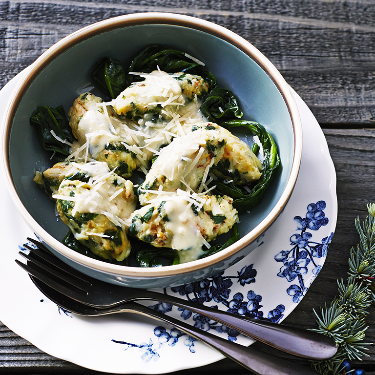 Crab and Spinach Gnocchi