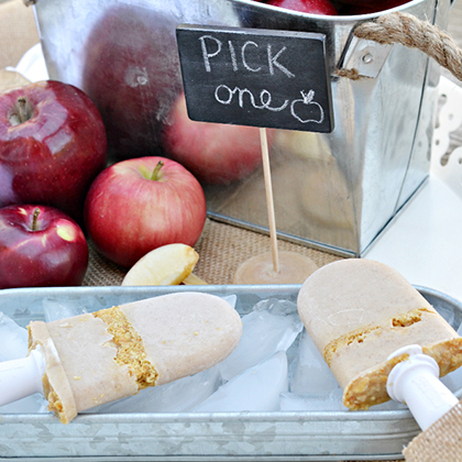 Apple Pie Popsicles