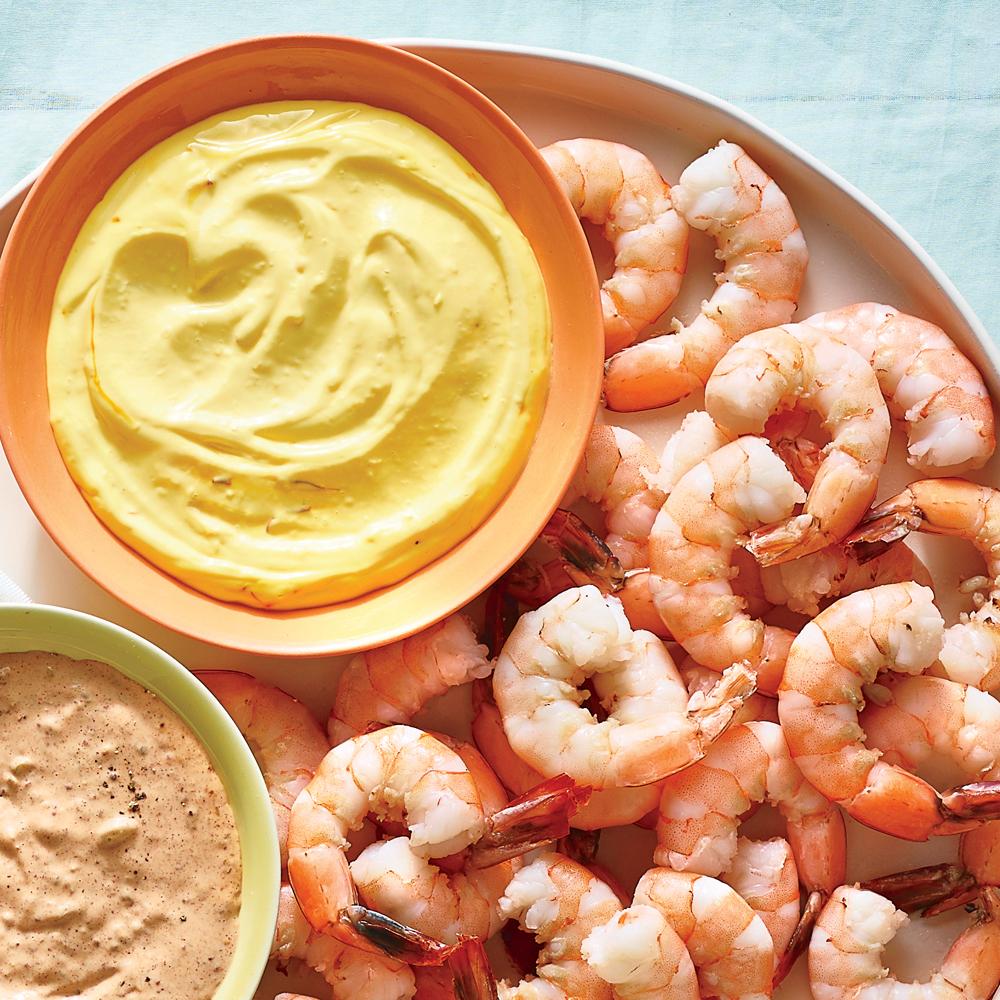 Chilled Shrimp with Saffron Aïoli