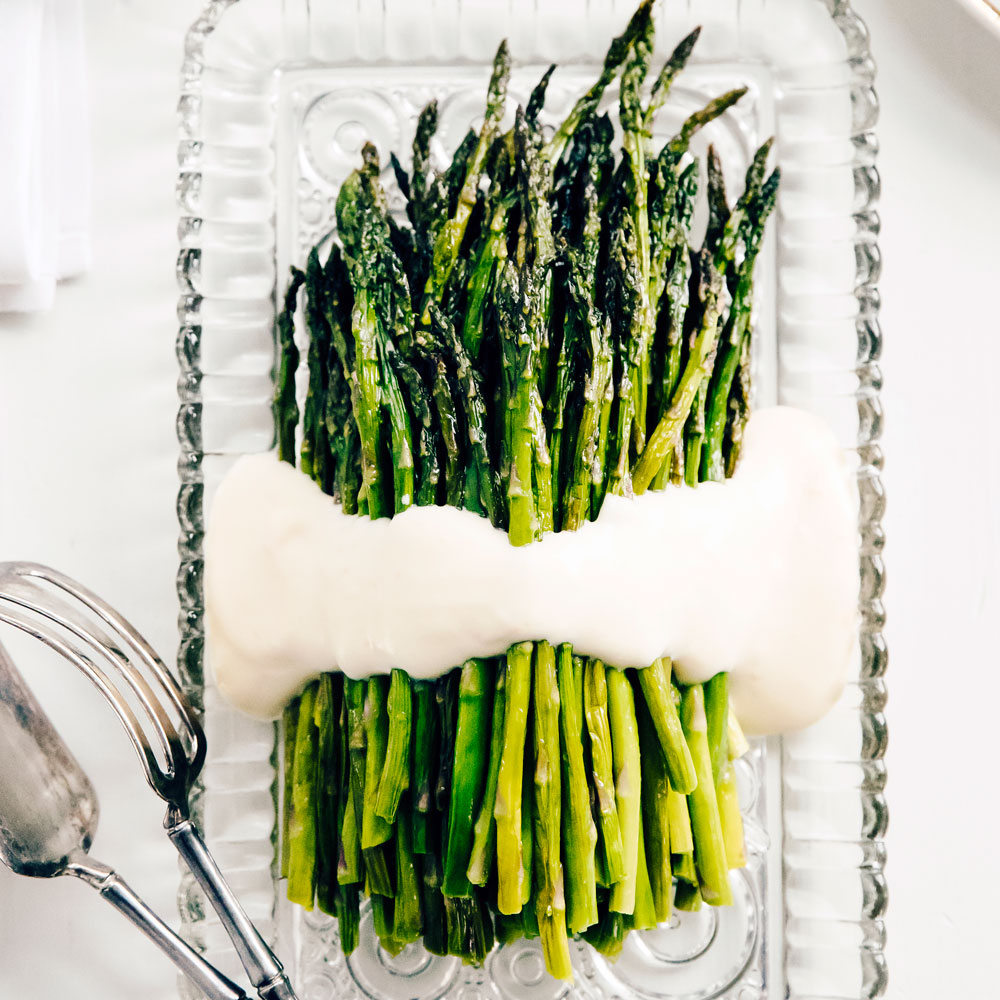 Roasted Asparagus with Grapefruit Sabayon