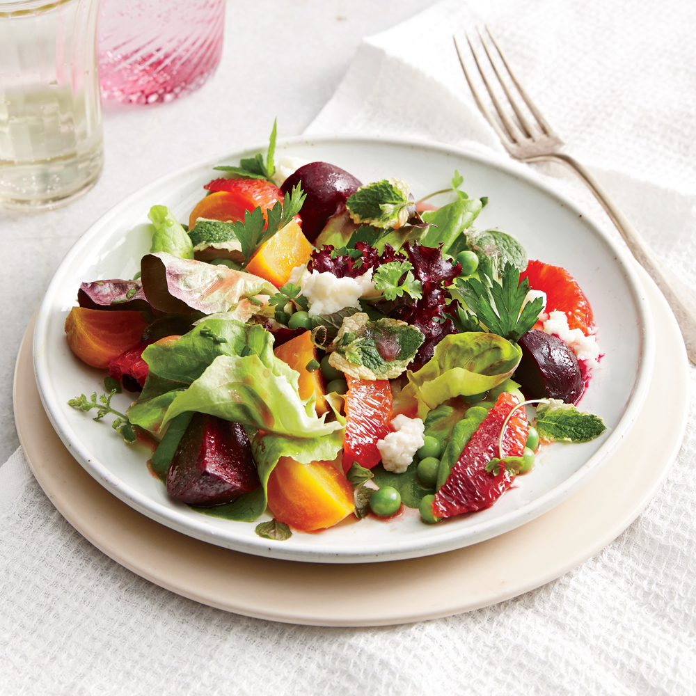 Spring Beet and Pea Salad