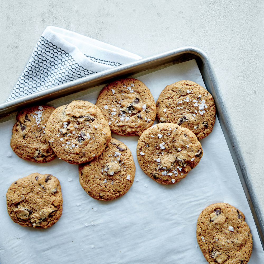 Crunchy Chewy Salted Chocolate Chunk Cookies