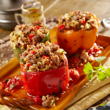 Italian Sausage and Quinoa Stuffed Pepper