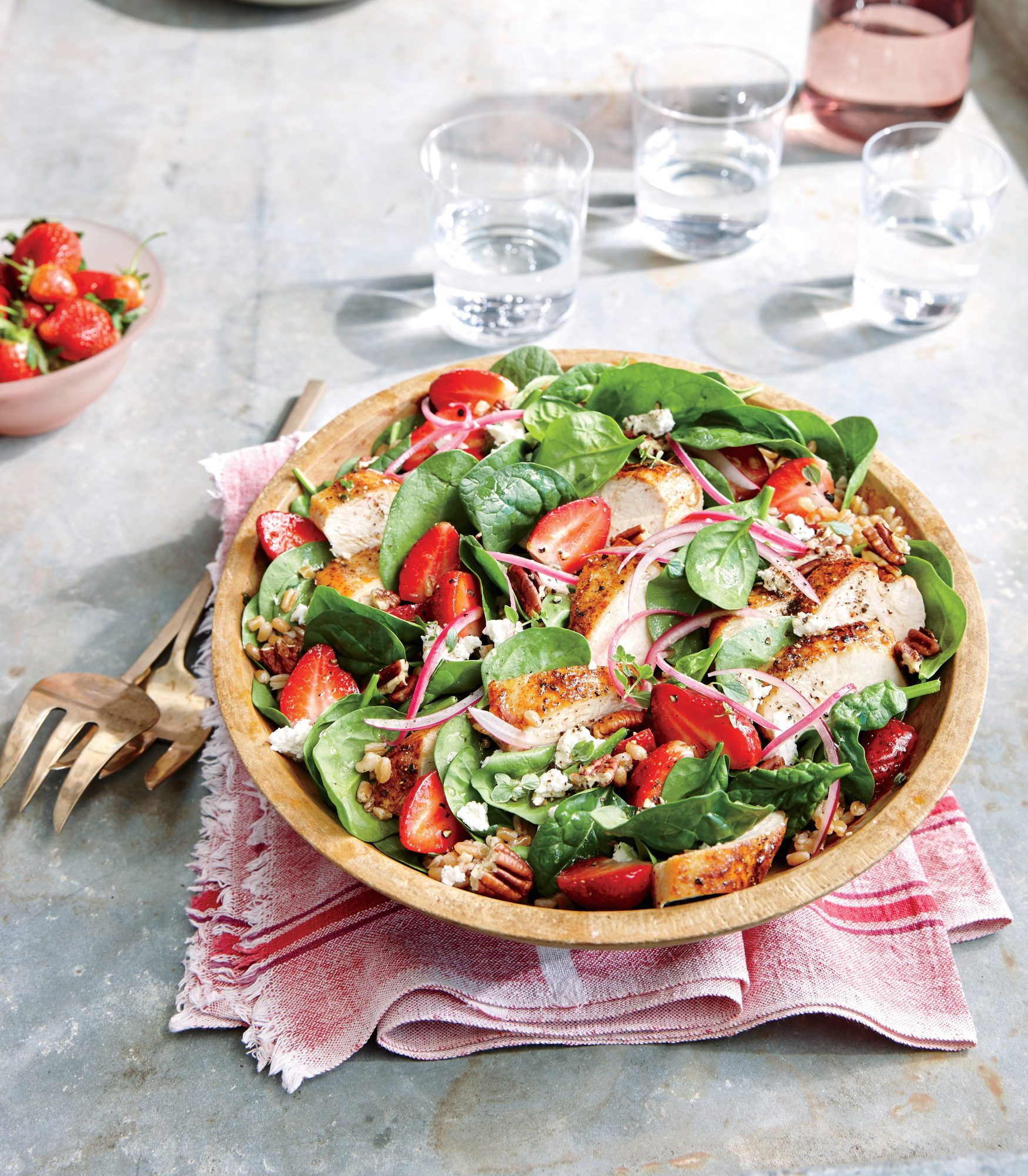Strawberry Chicken Salad with Pecans
