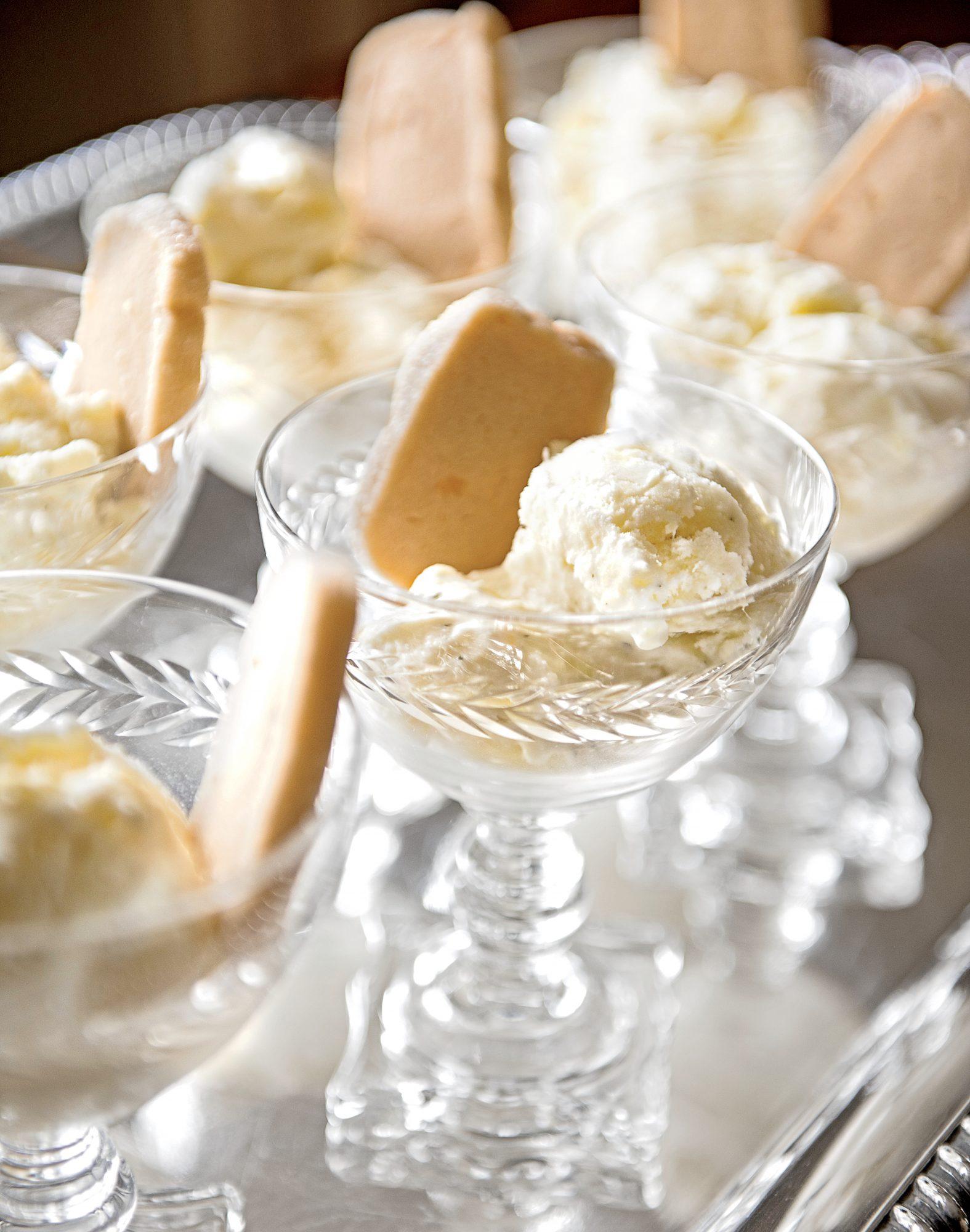 Justine's Pineapple-Mint Ice Cream