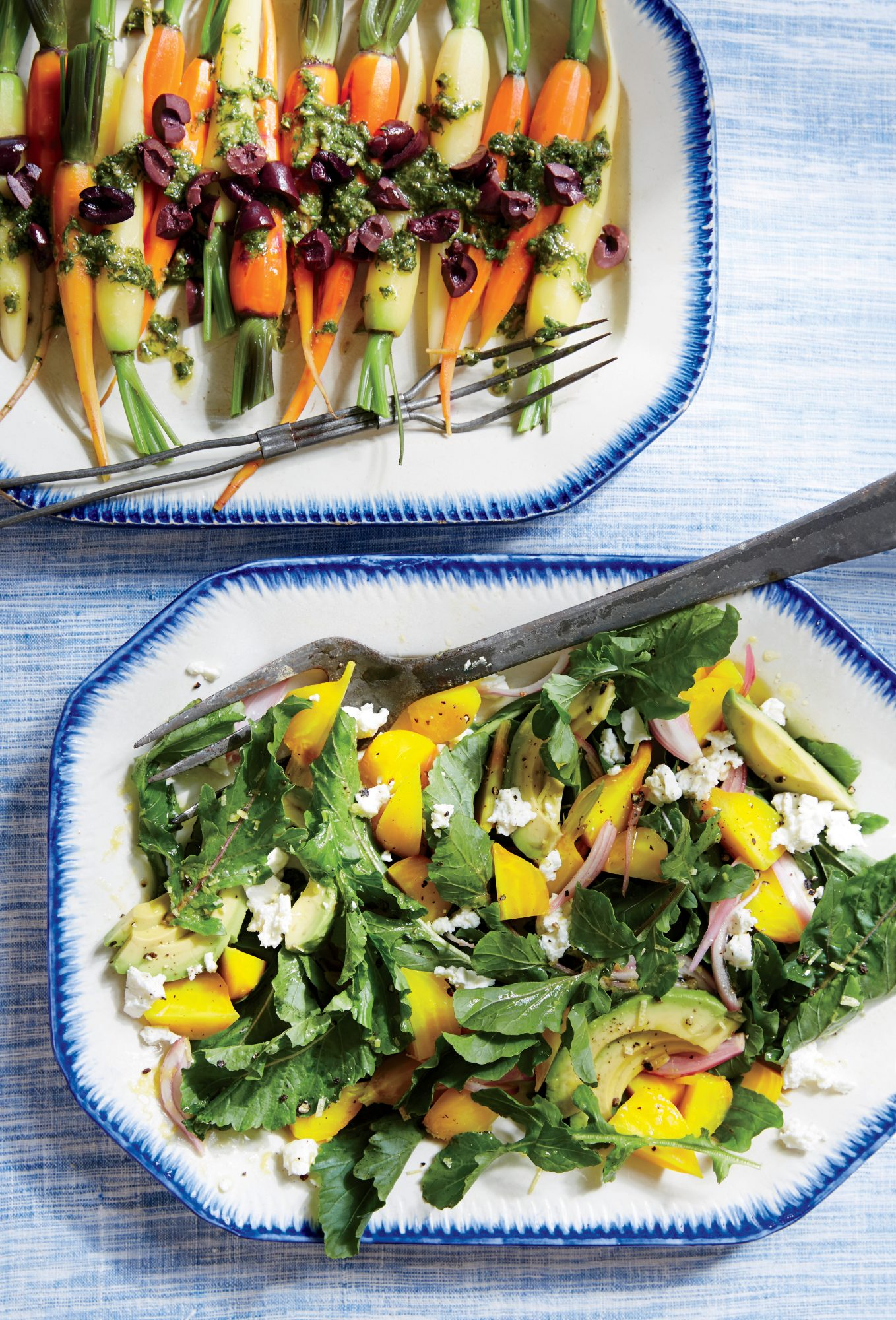 Baby Carrots with Herb Dressing and Olives