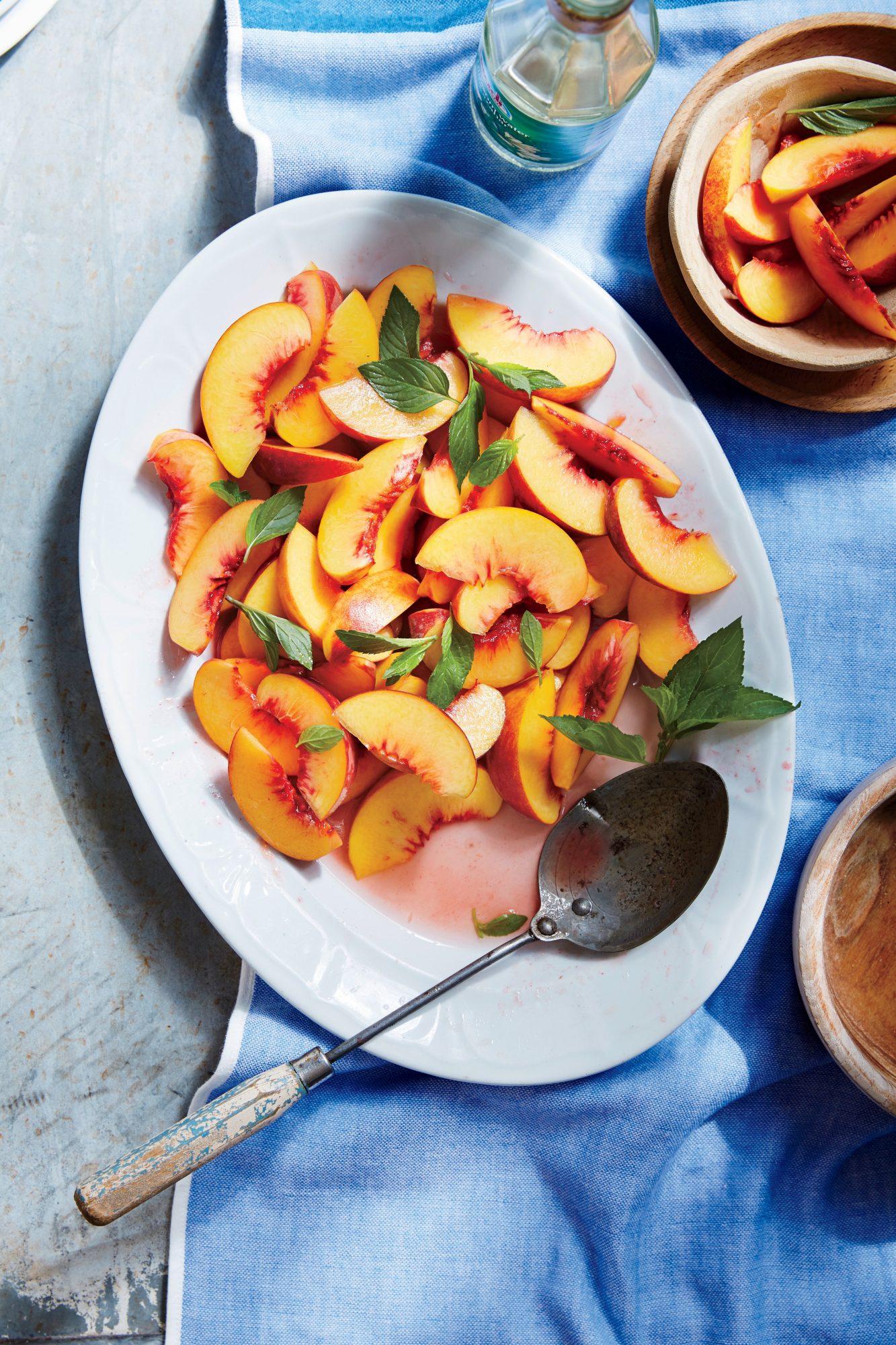 Chilled Peaches in Orange Flower Water