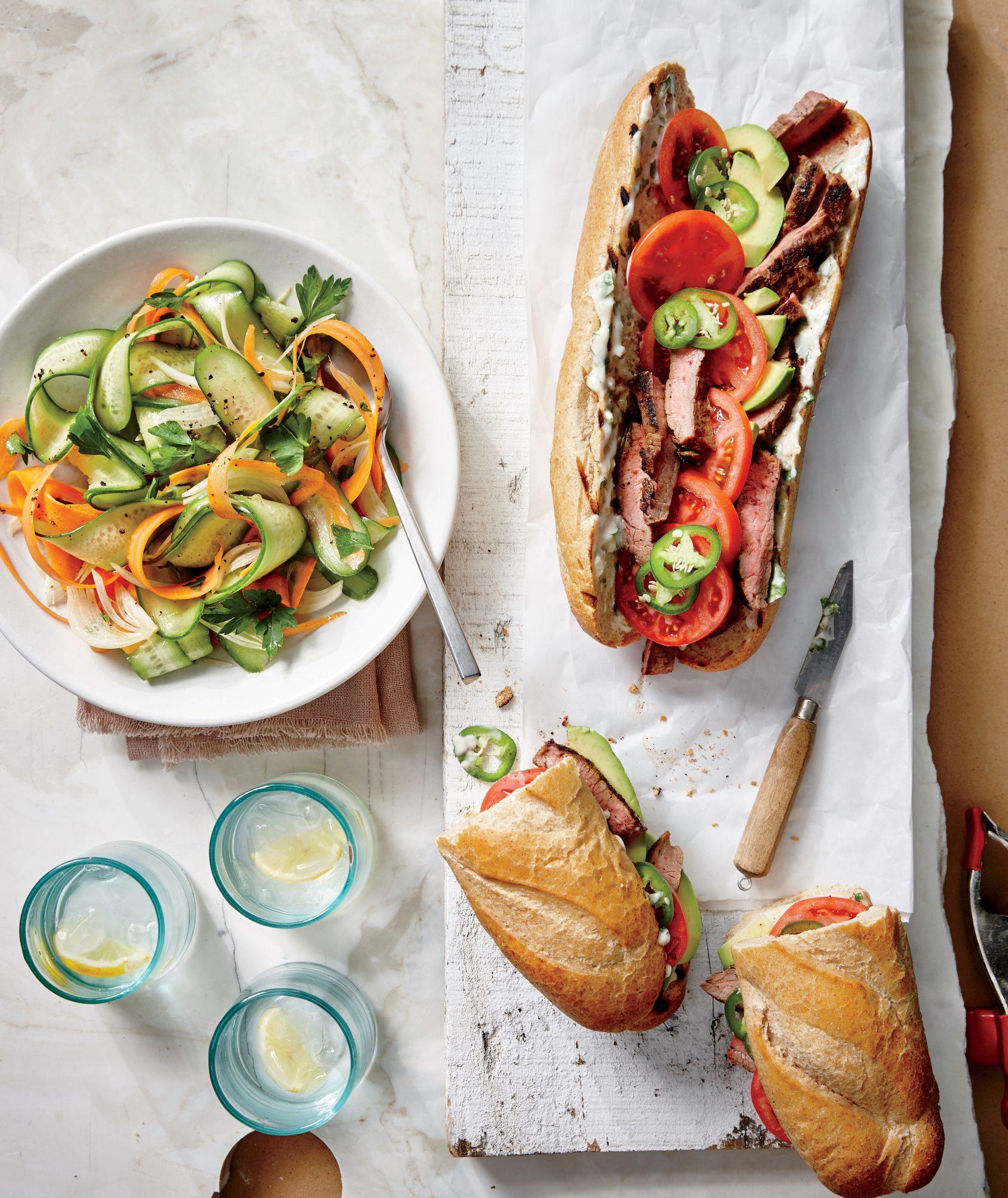 Carne Asada Steak Sandwiches