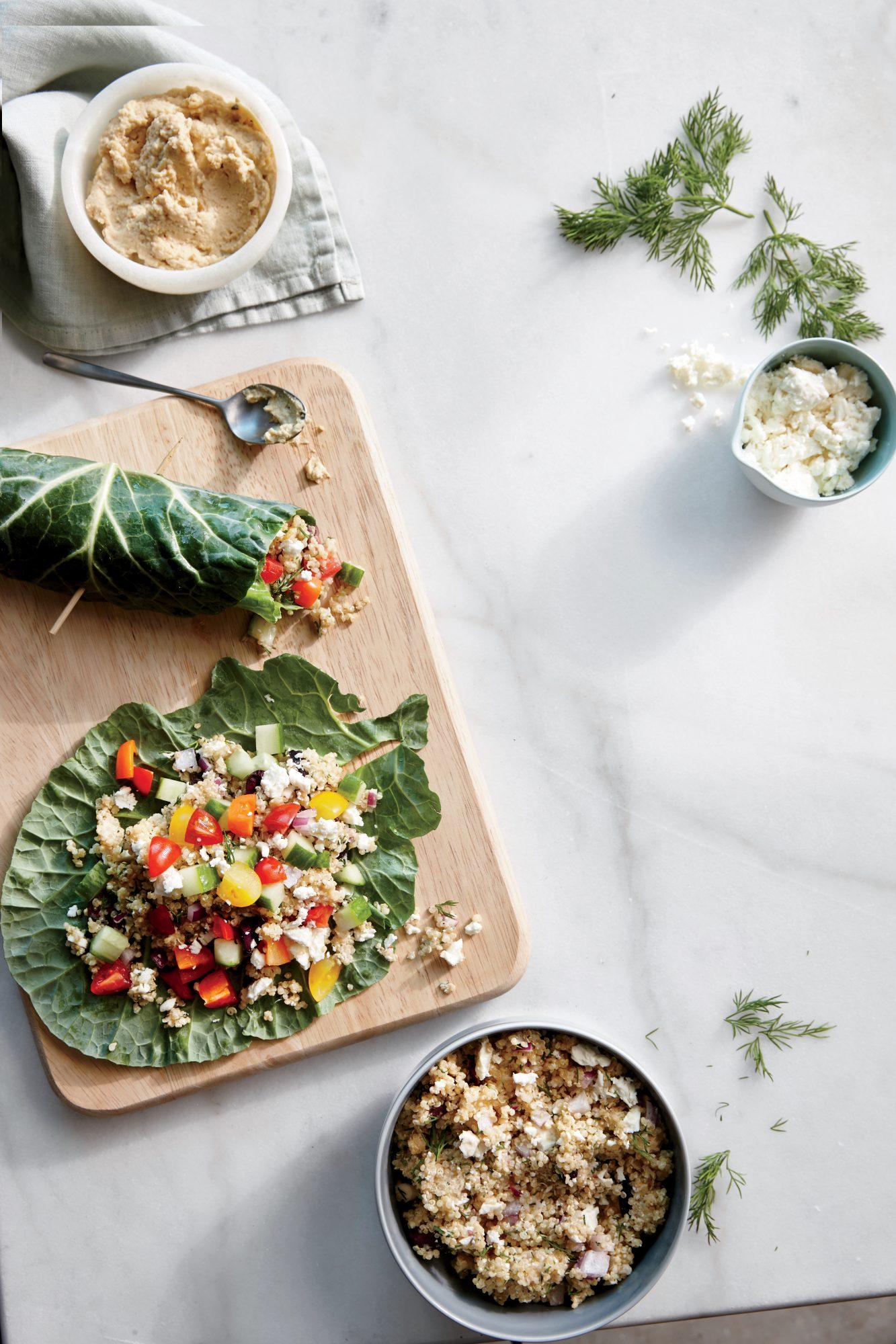 Collard Green Quinoa Wraps
