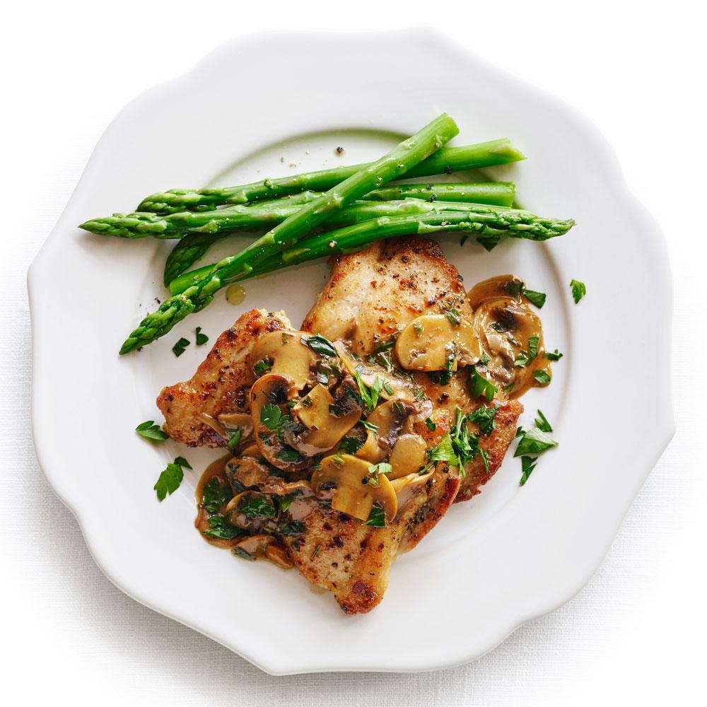 Chicken Scaloppine with Mushrooms
