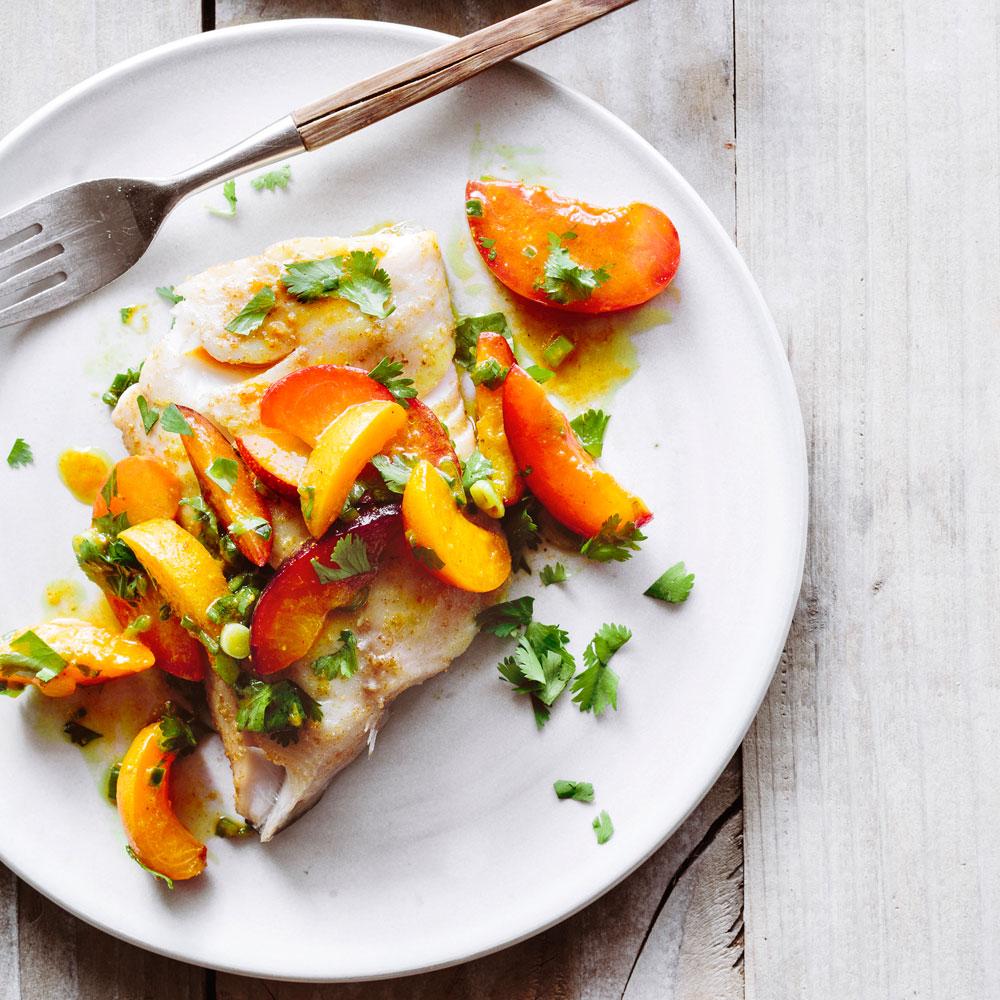 Sablefish with Stone Fruit Salsa