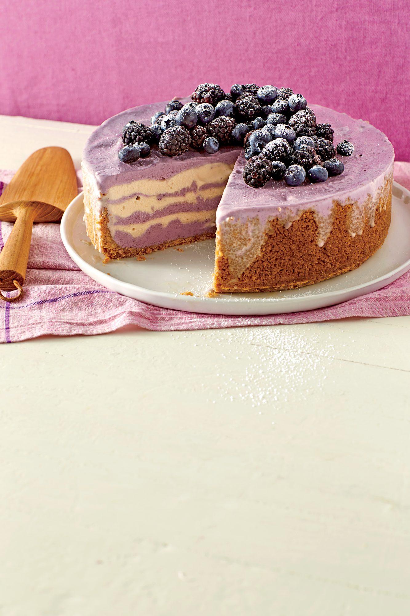 Berry Swirl Gelato Cake