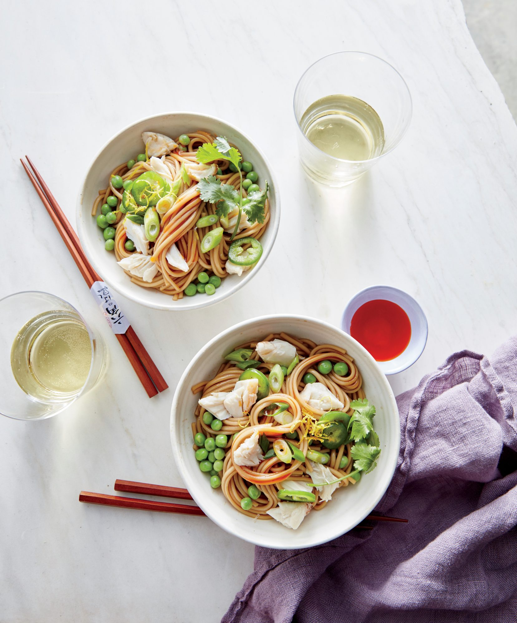 Cold Noodle Salad with Sesame Crab