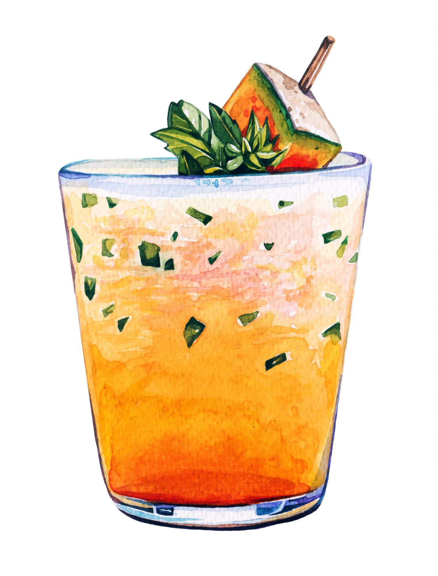 Cantaloupe-Basil Float