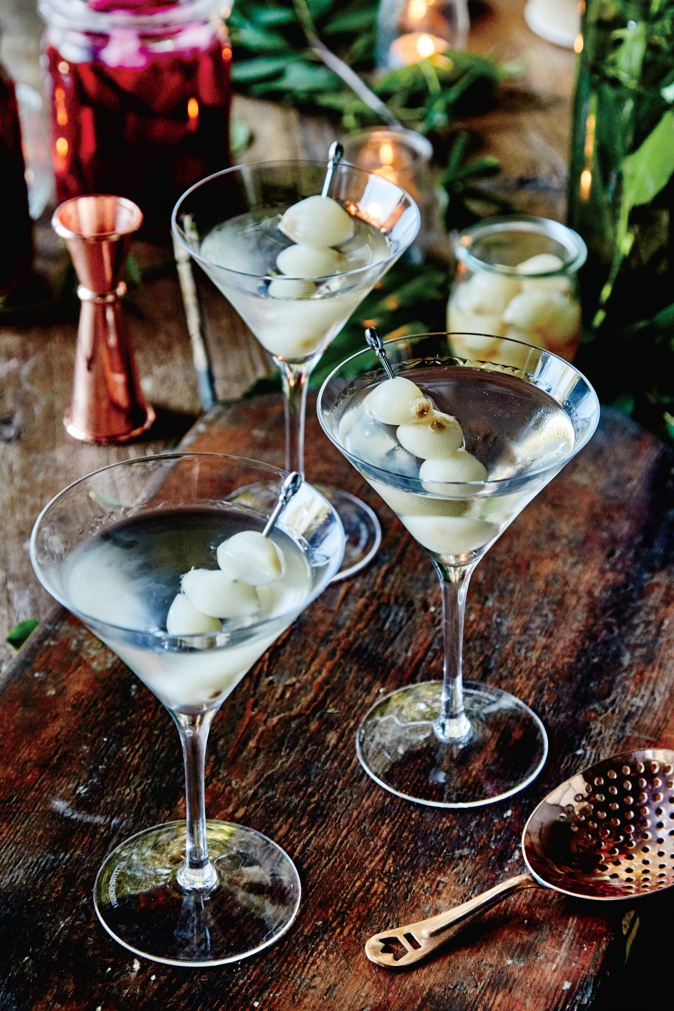 Gibson Martini with Pickled Pearl Onions
