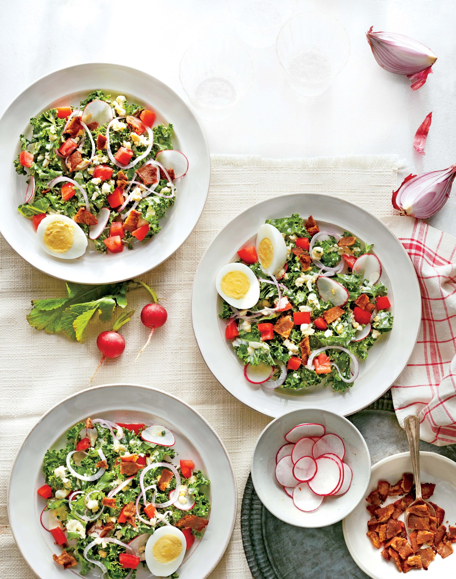 Chopped Kale and Bacon Salad