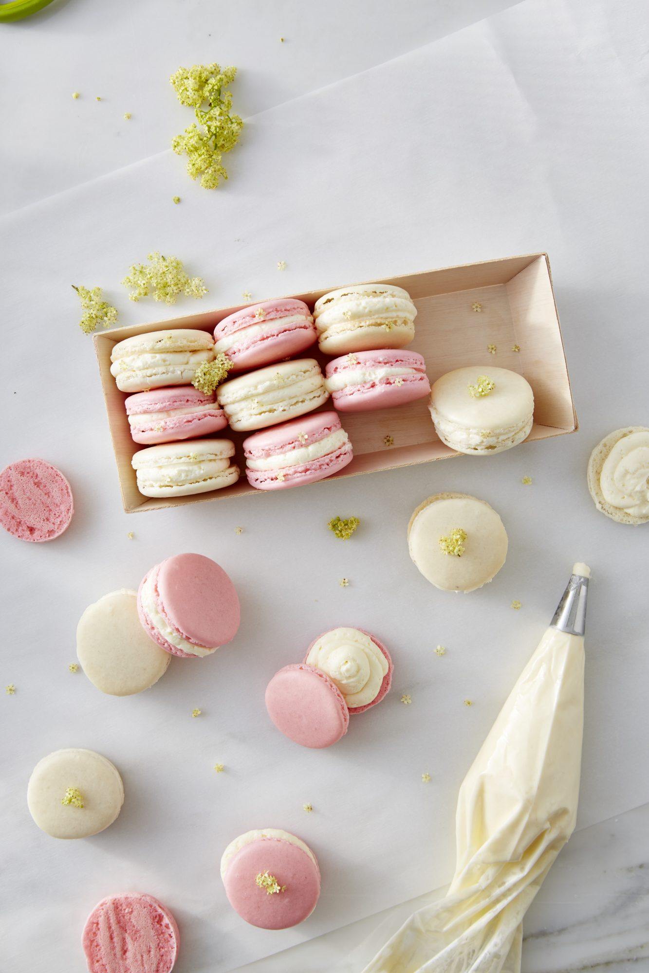 Elderflower Macarons
