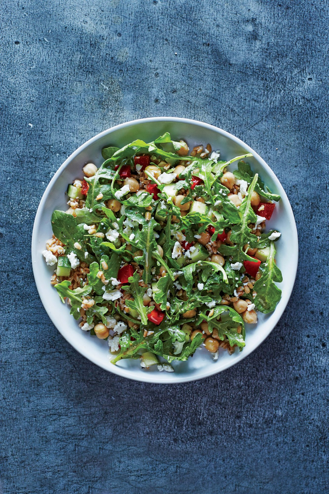 Greek Farro and Chickpea Salad