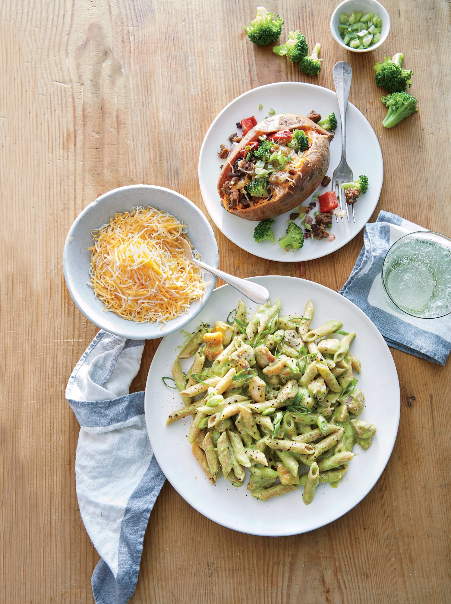 Broccoli and Cheddar Chicken Pasta image