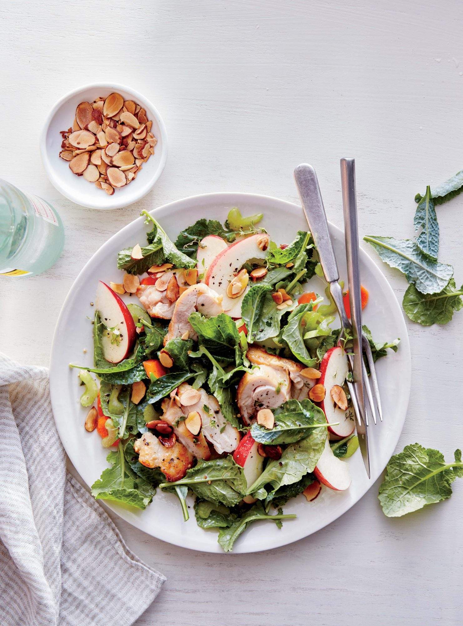 Kale, Apple, and Almond Chicken Salad