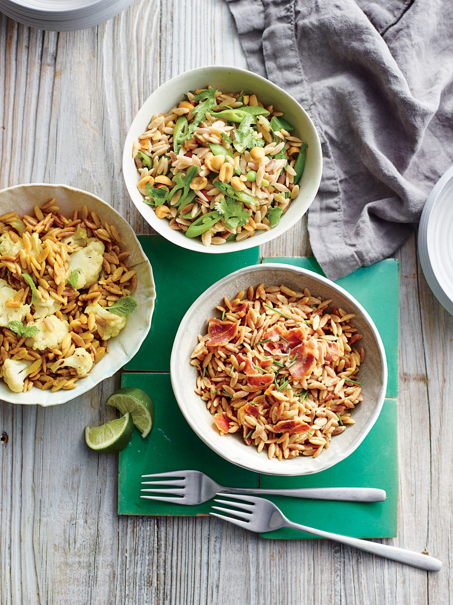 Orzo with Curried Cauliflower and Mint