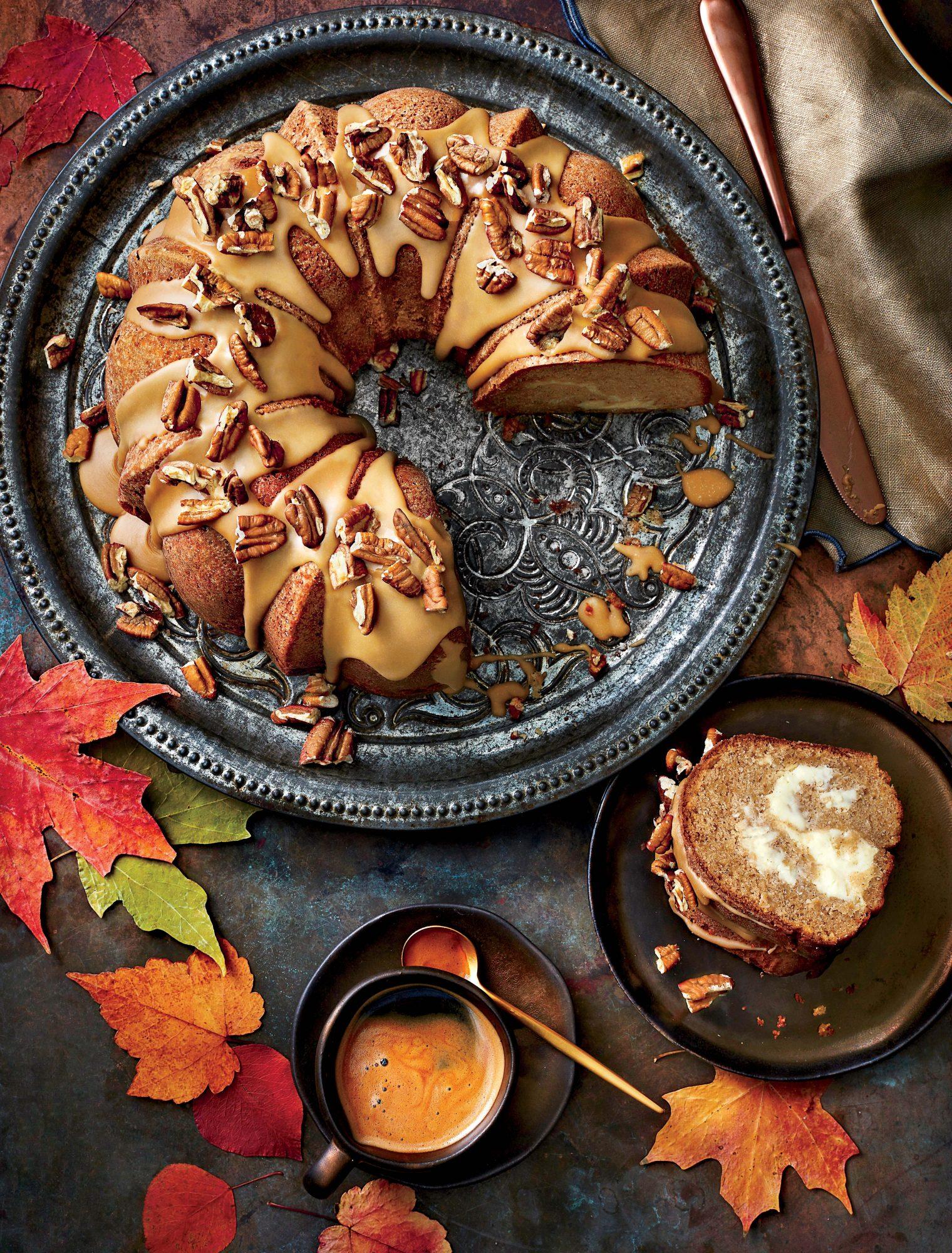 Apple-Spice Bundt Cake with Caramel Frosting