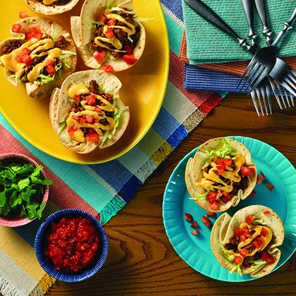 VELVEETA® Tasty Baked Mini Taco Bowls [Ad]