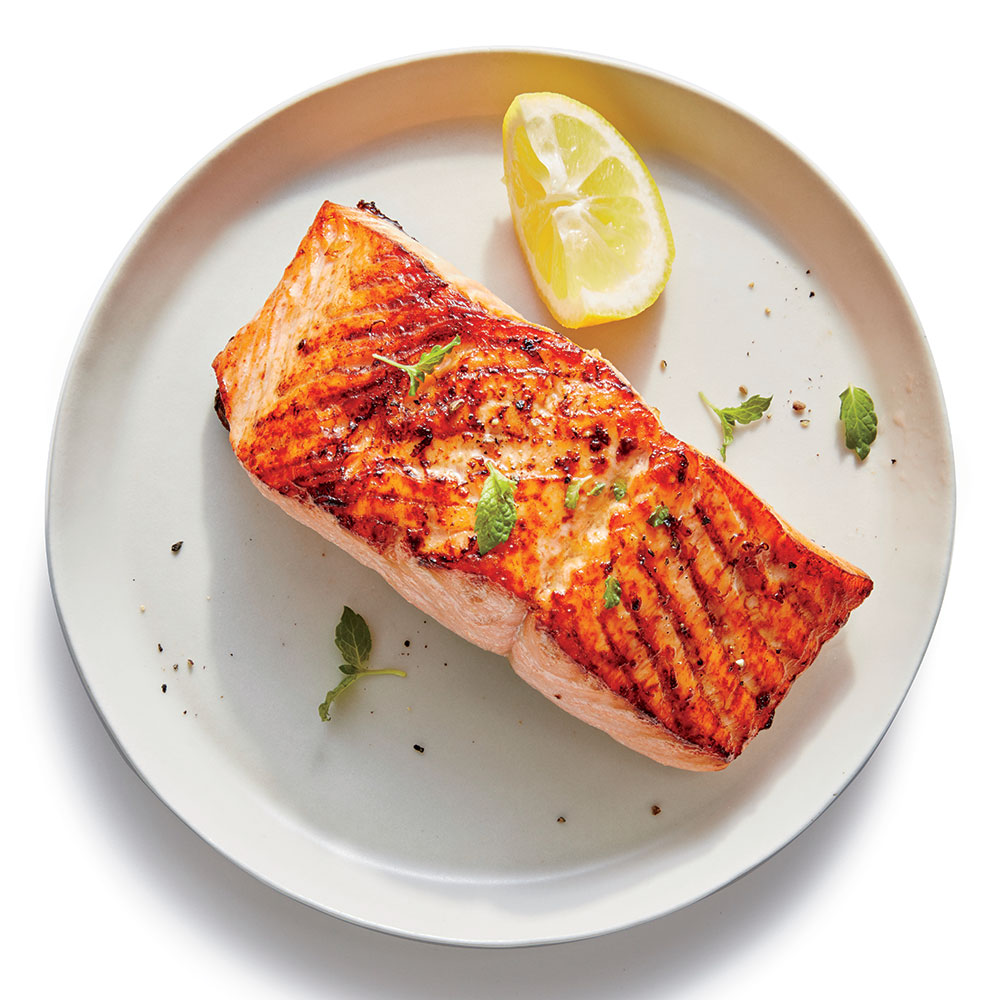 Broiled Salmon with Lemon
