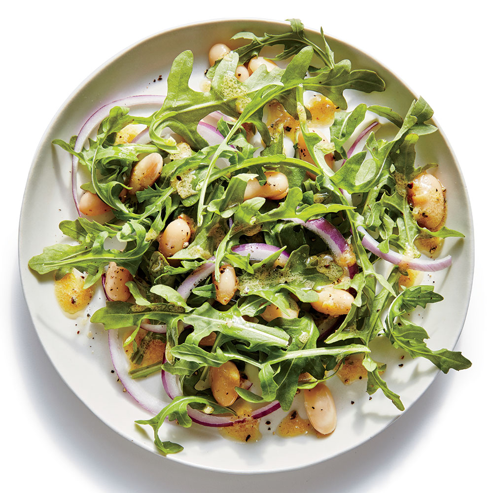 Lemony White Bean-and-Arugula Salad