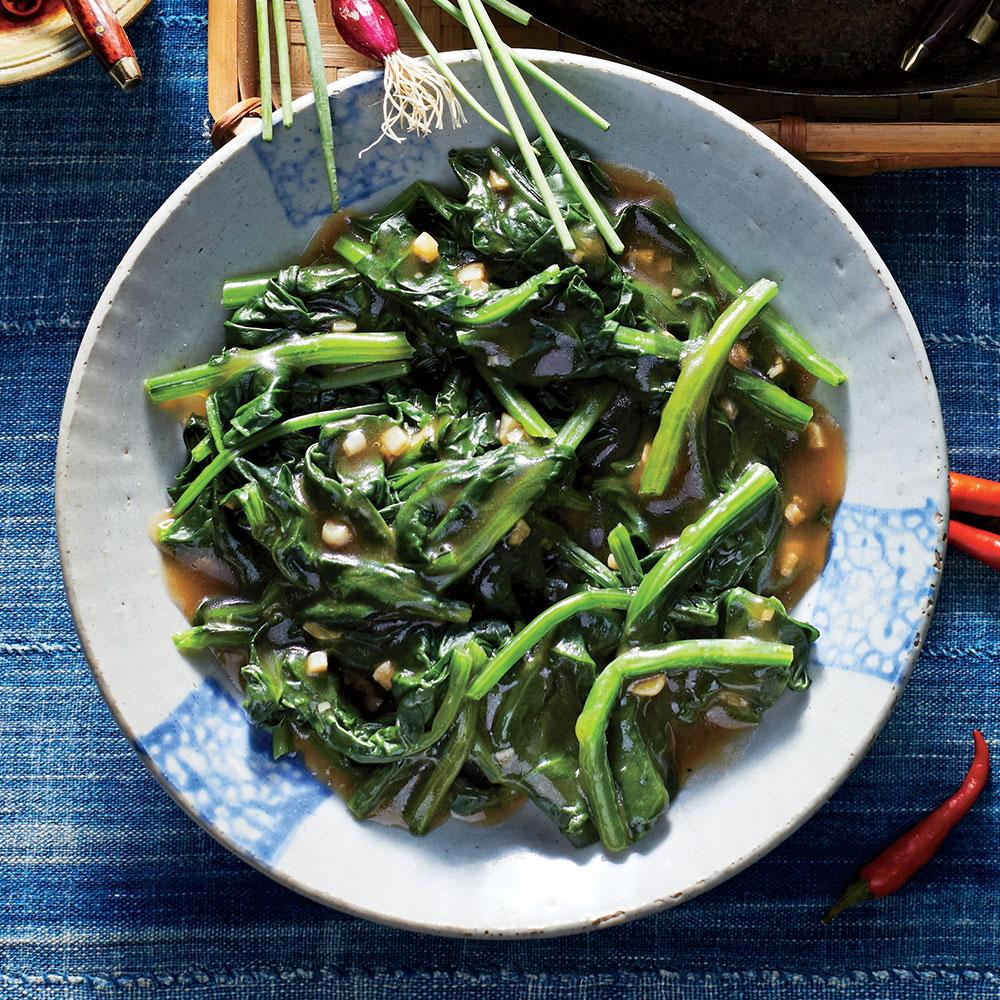 Stir-Fried Water Spinach with Garlic