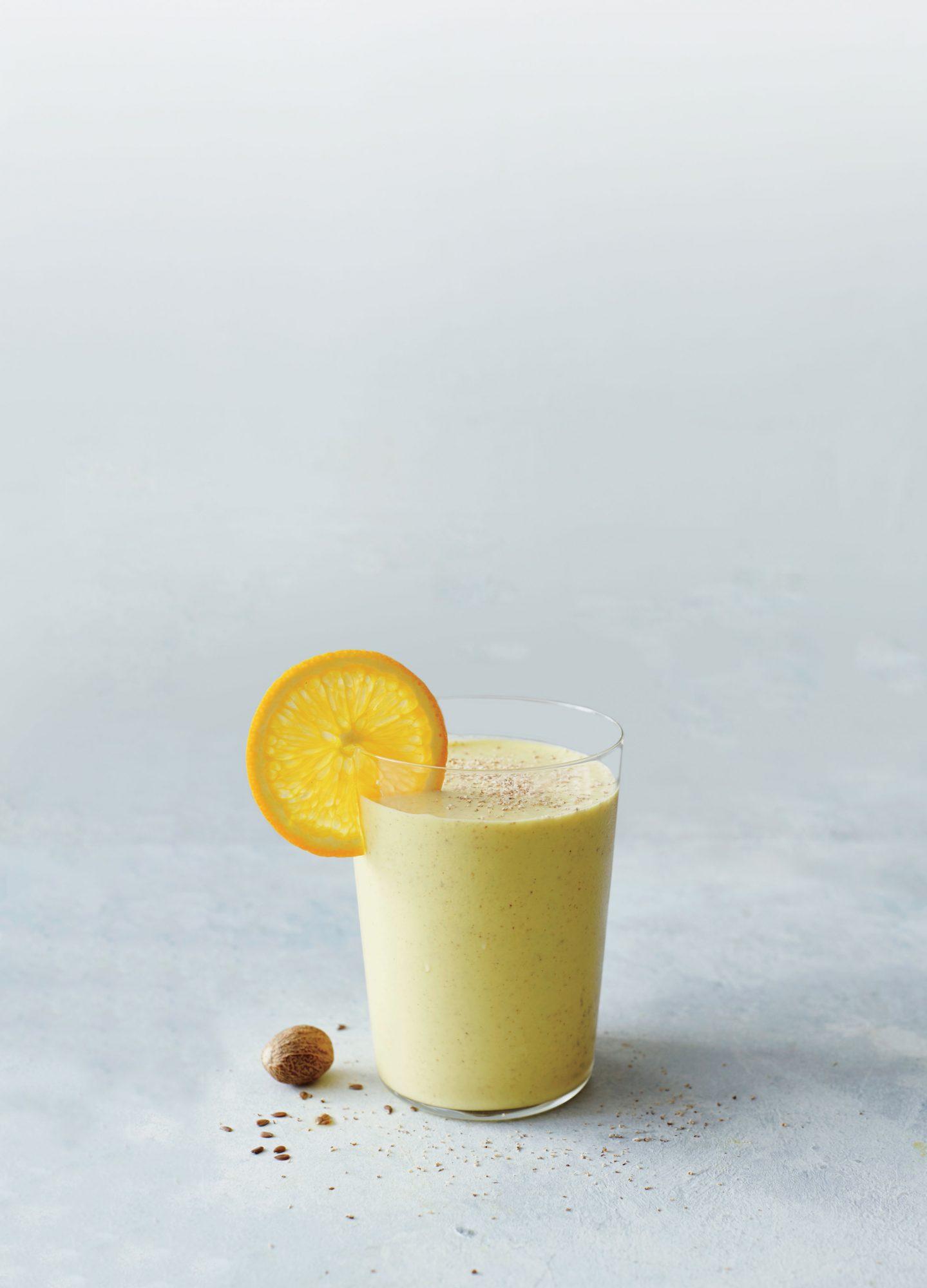 Orange-Mango Gritty with Turmeric and Walnuts