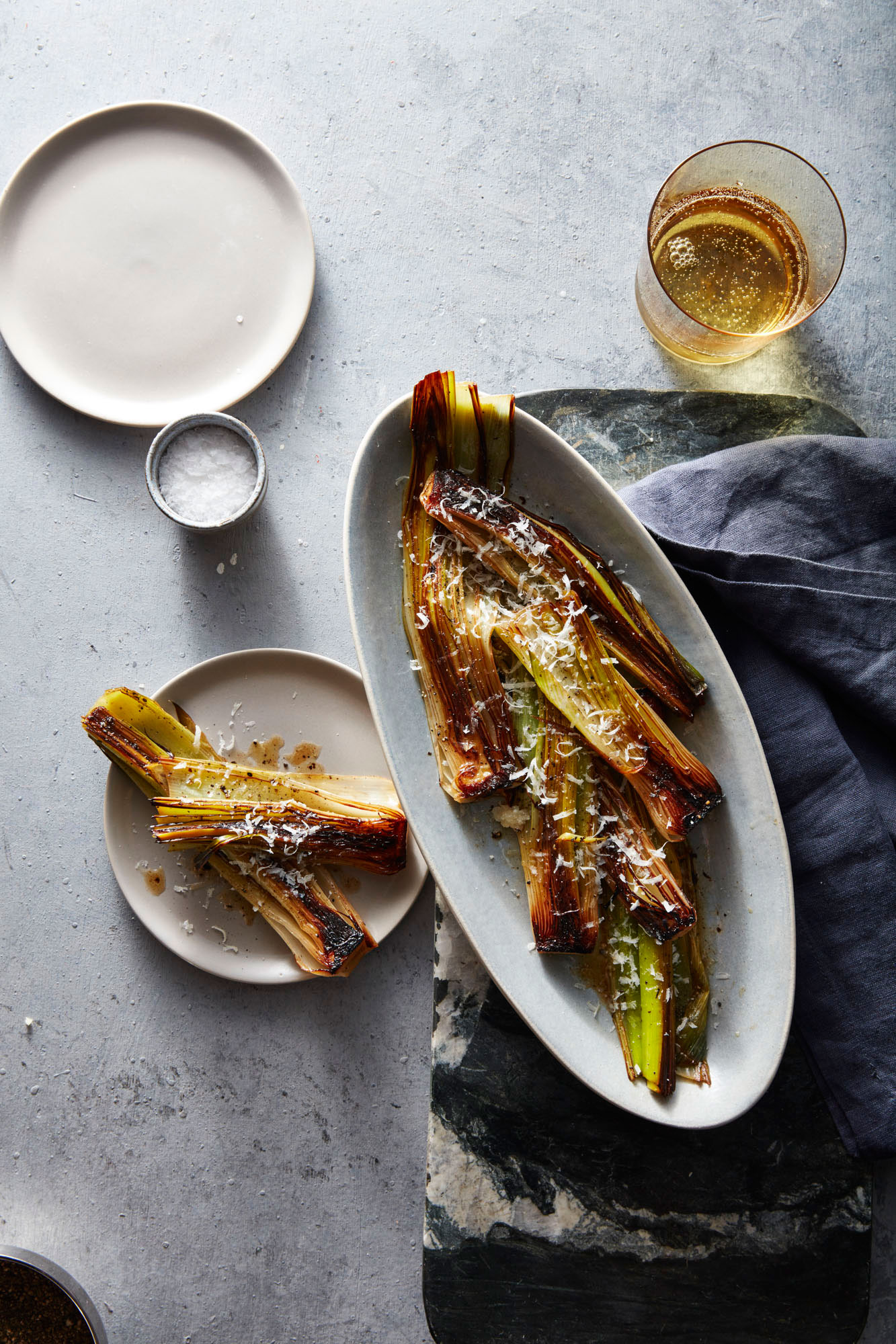Braised Leeks with Parmesan