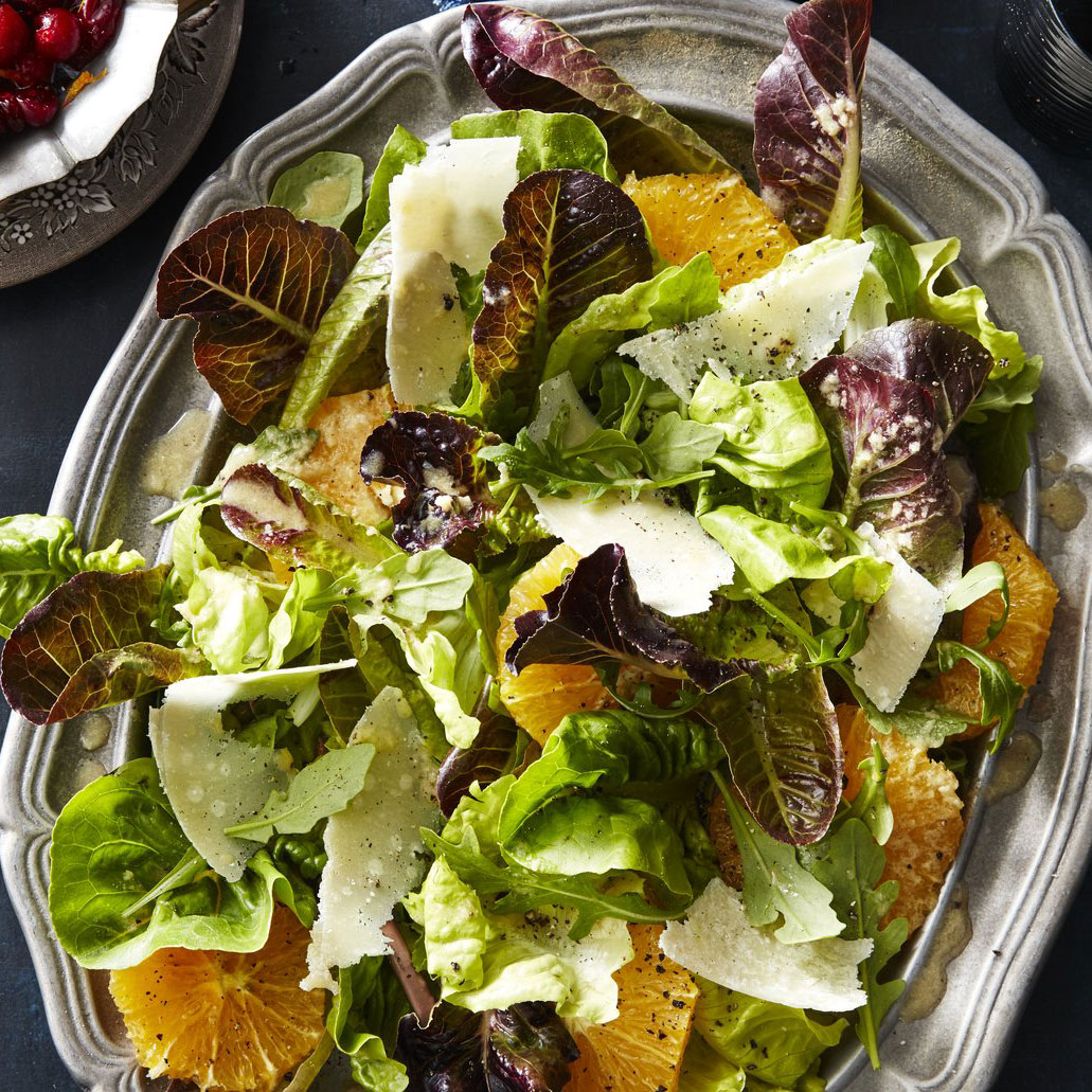 Fall Greens and Orange Salad