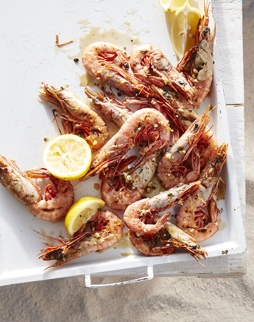 Grilled Royal Reds with Lemony Garlic Butter