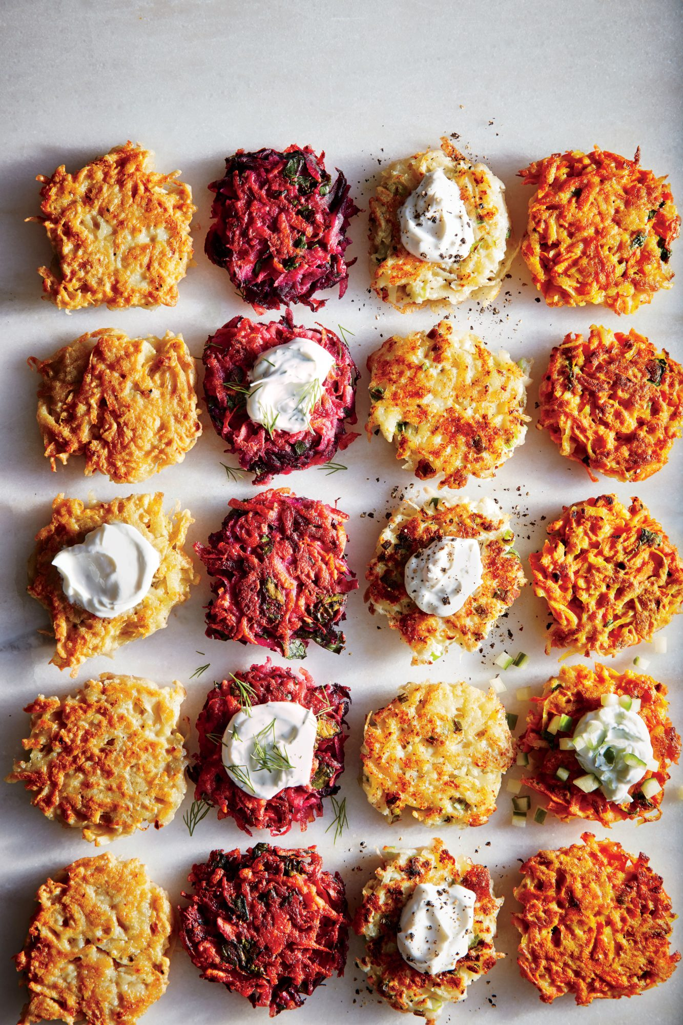 Cheesy Cauliflower Latkes