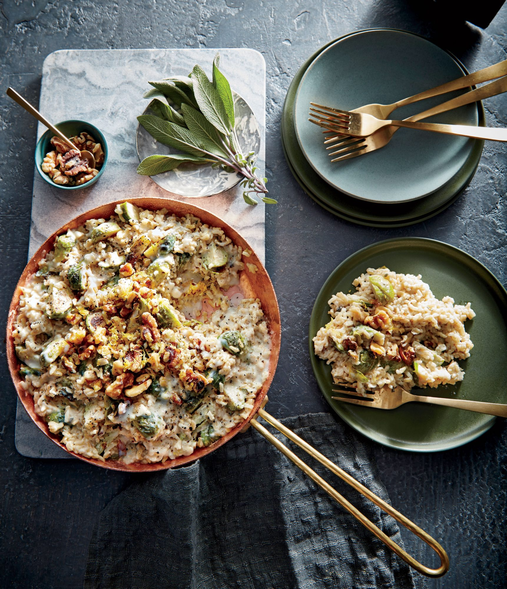 Shortcut Risotto with Brussels Sprouts image
