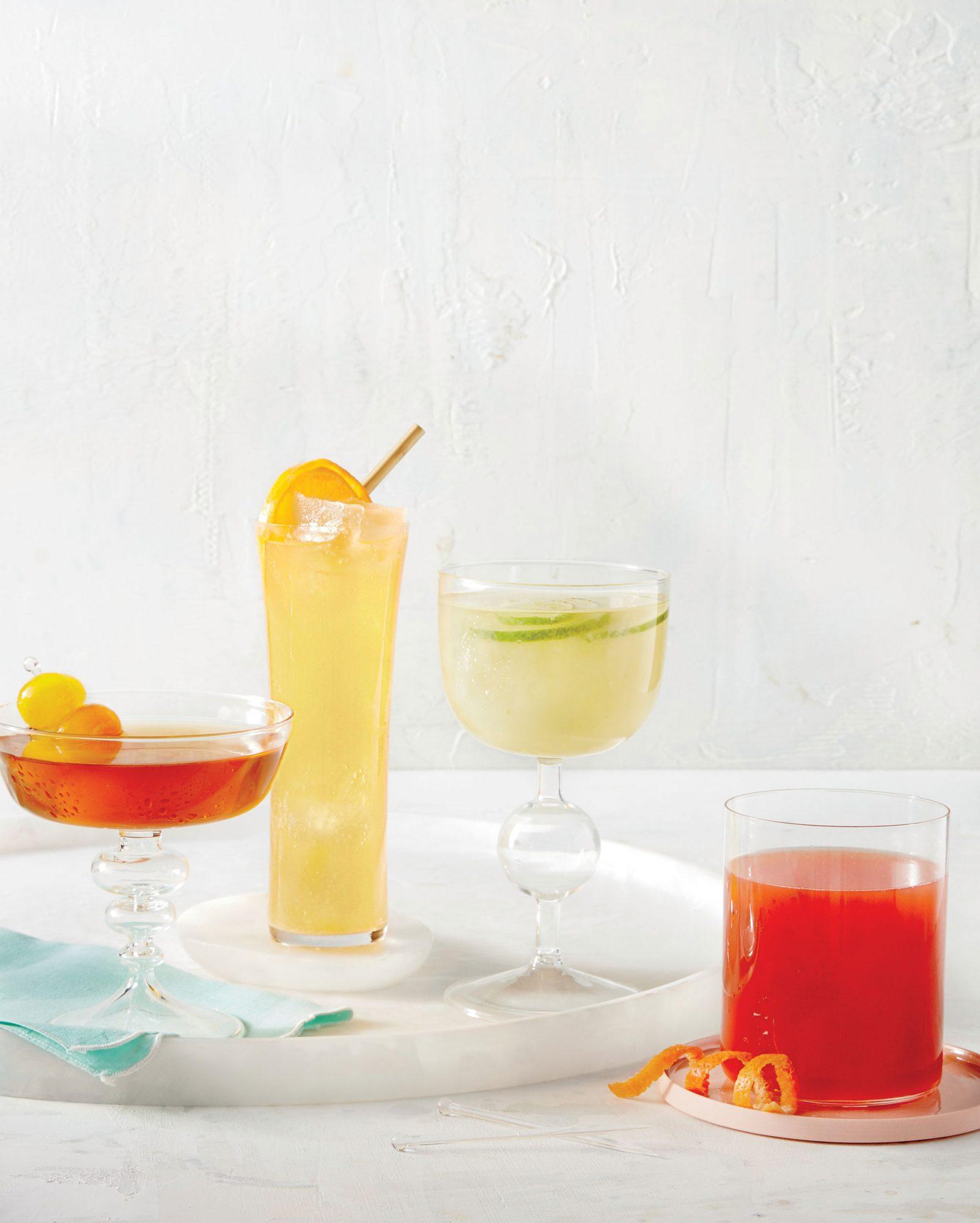 Tangerine-Elderflower Spritzer with Champagne Ice Cubes image