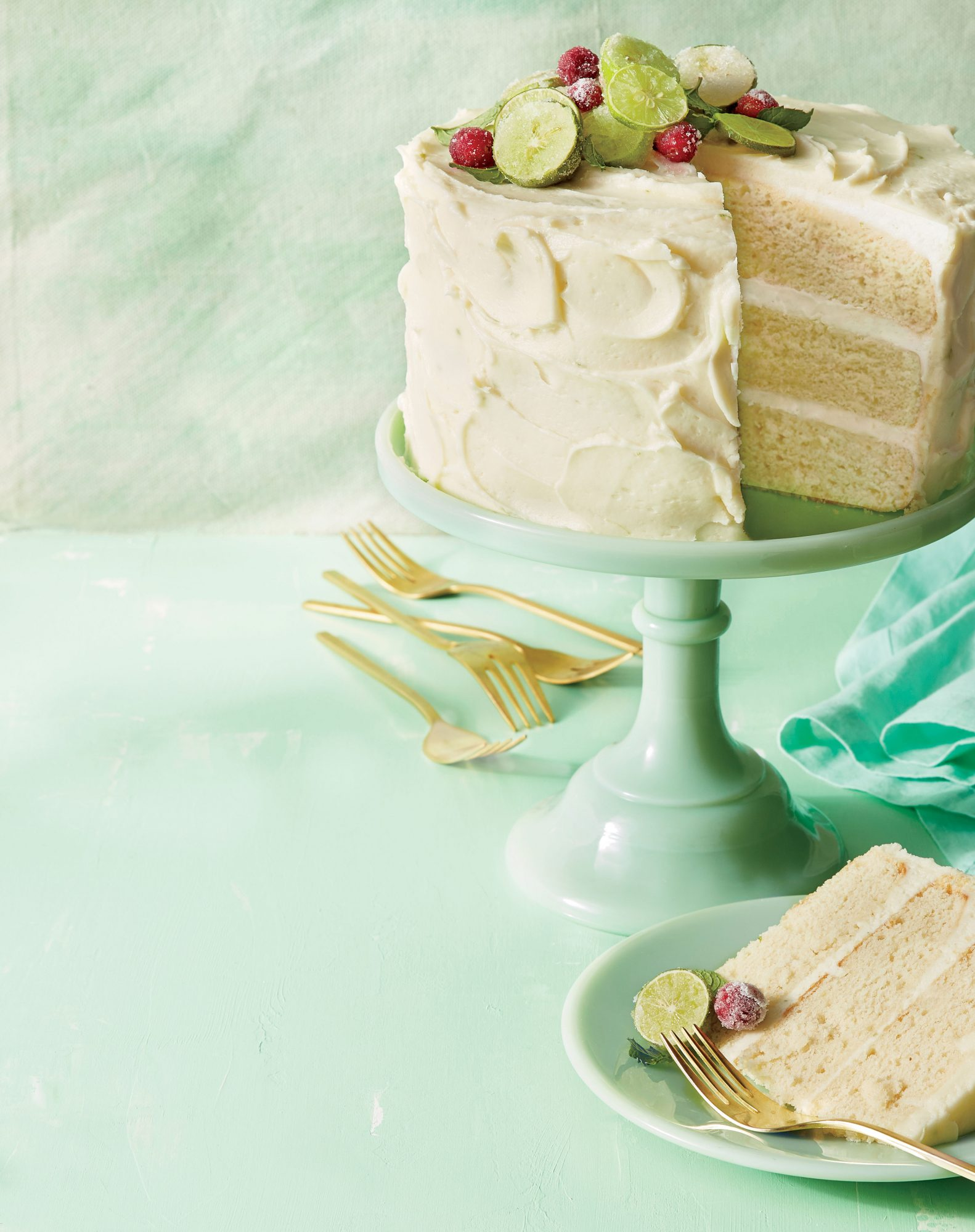 Rum Cake with Key Lime Buttercream