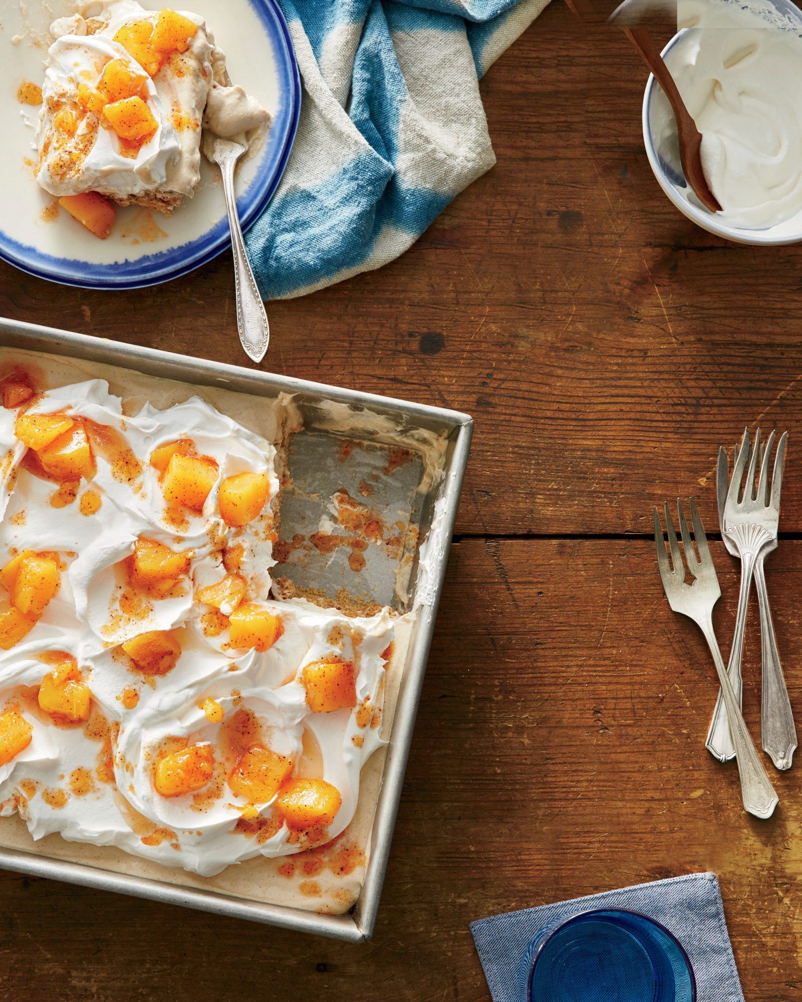 Horchata Icebox Cake with Spiced Mango