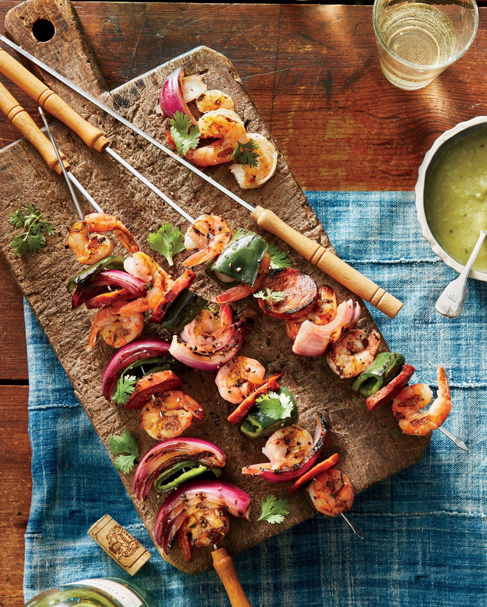 Shrimp-and-Chorizo Kebabs