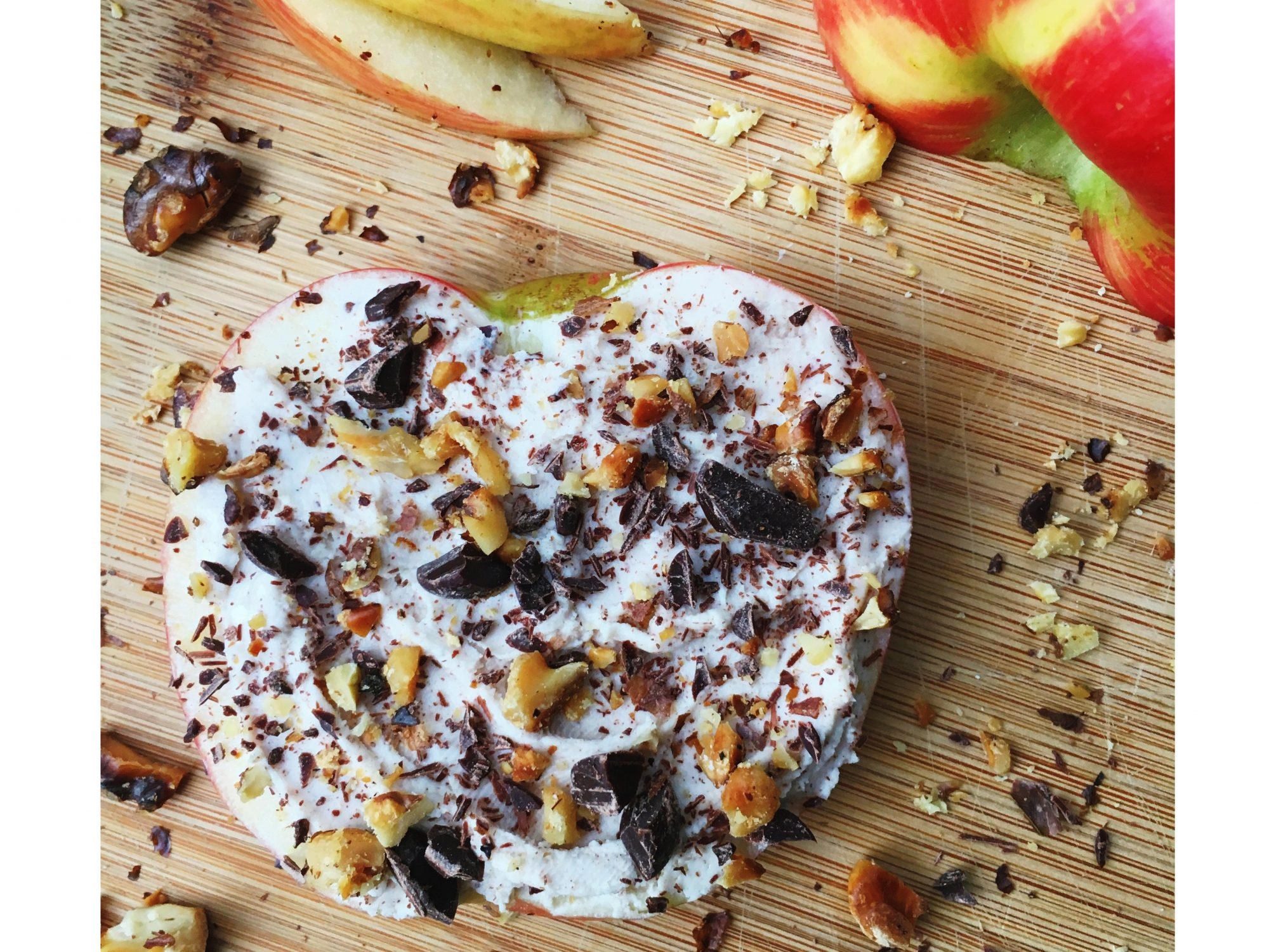Coffee Goat Cheese on Apple