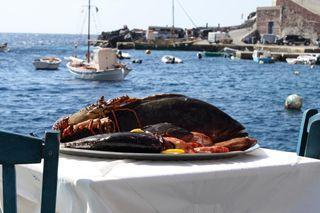 1106w Greek Restaurant Fish Platter