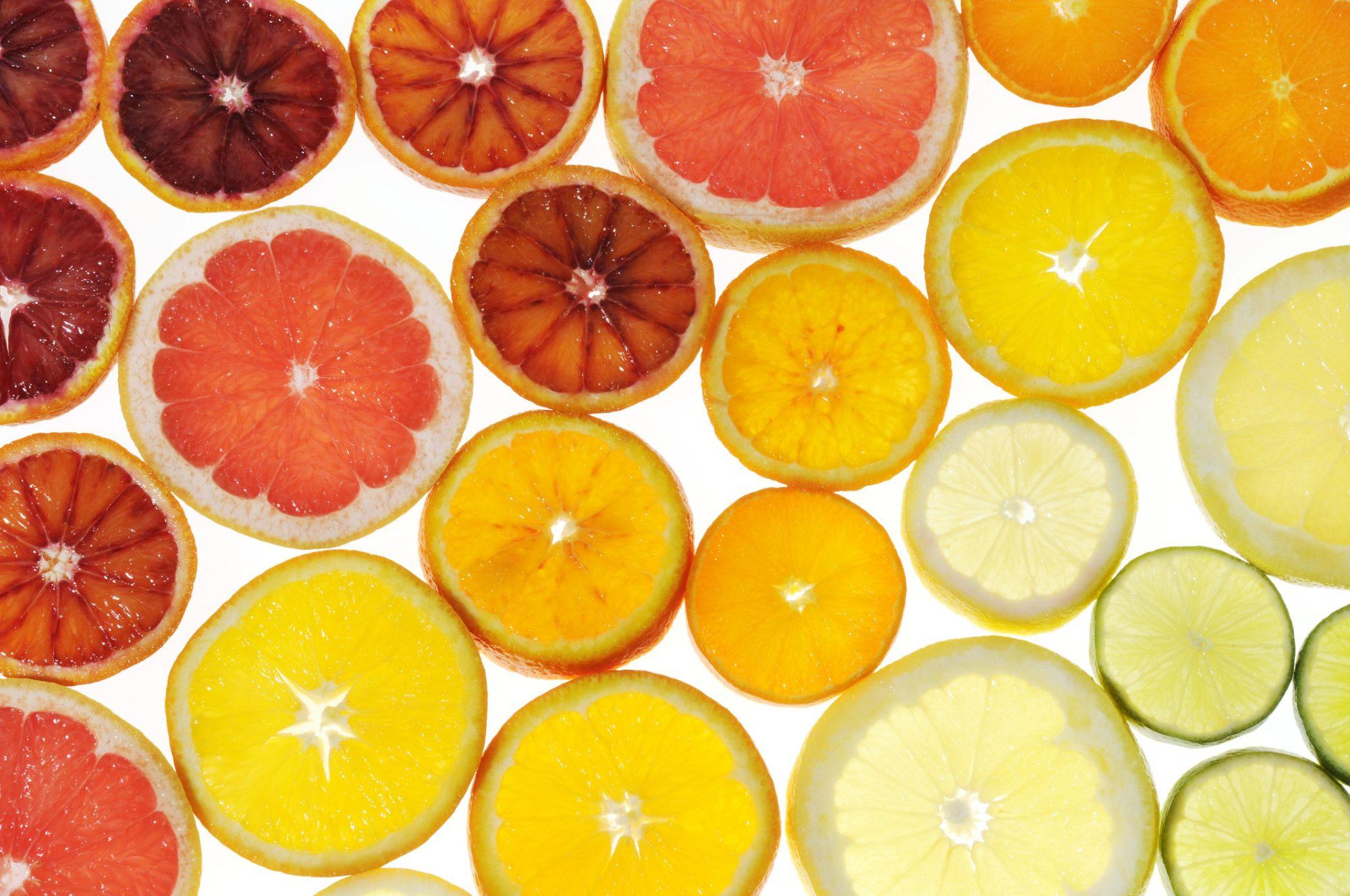 Slices of citrus fruit image