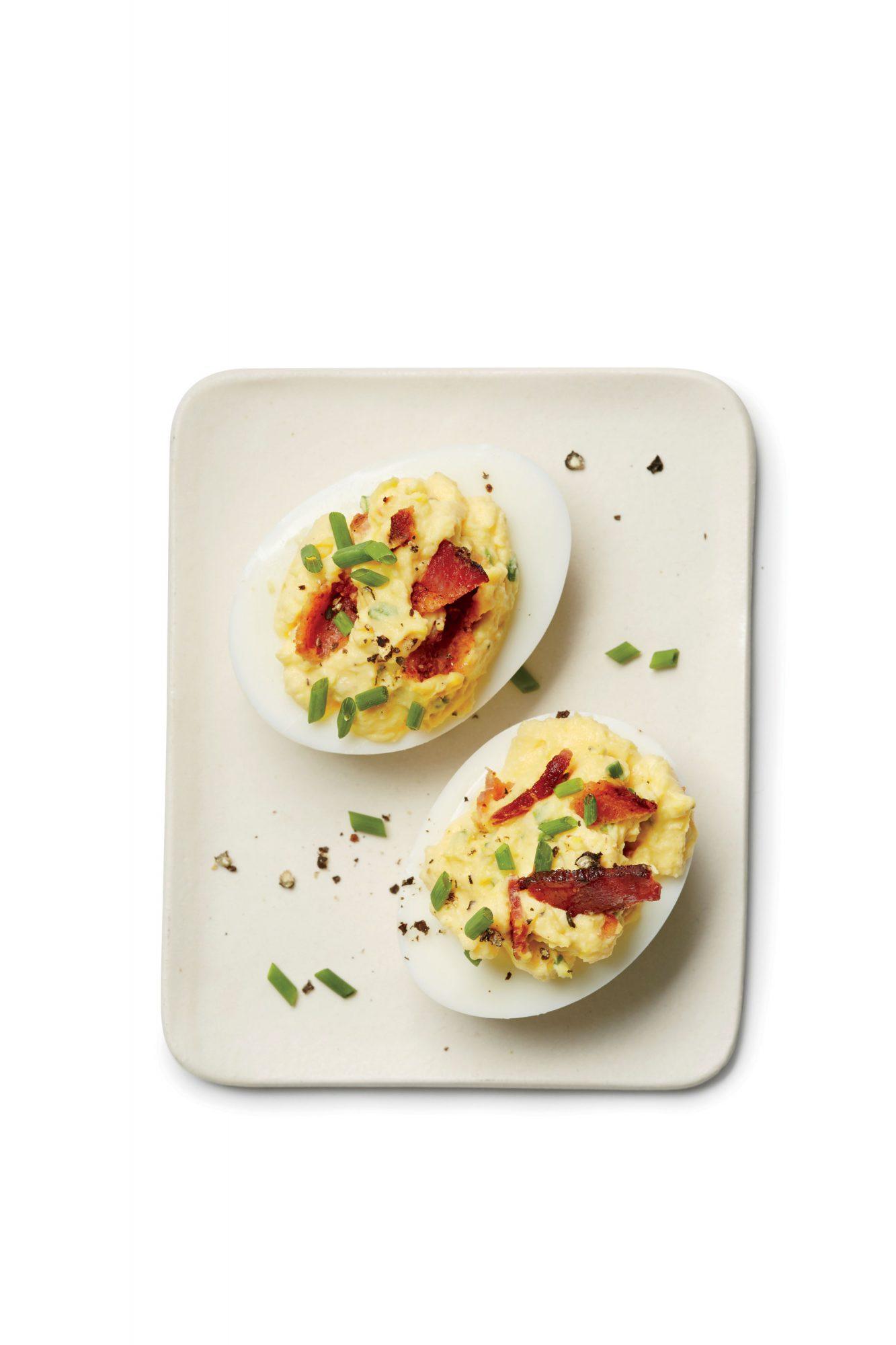Bacon-Horseradish Deviled Eggs image