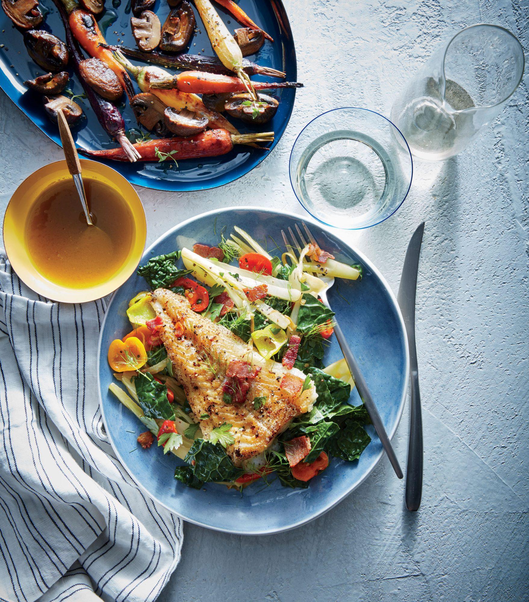 Maple-Dijon Roasted Carrots and Mushrooms image