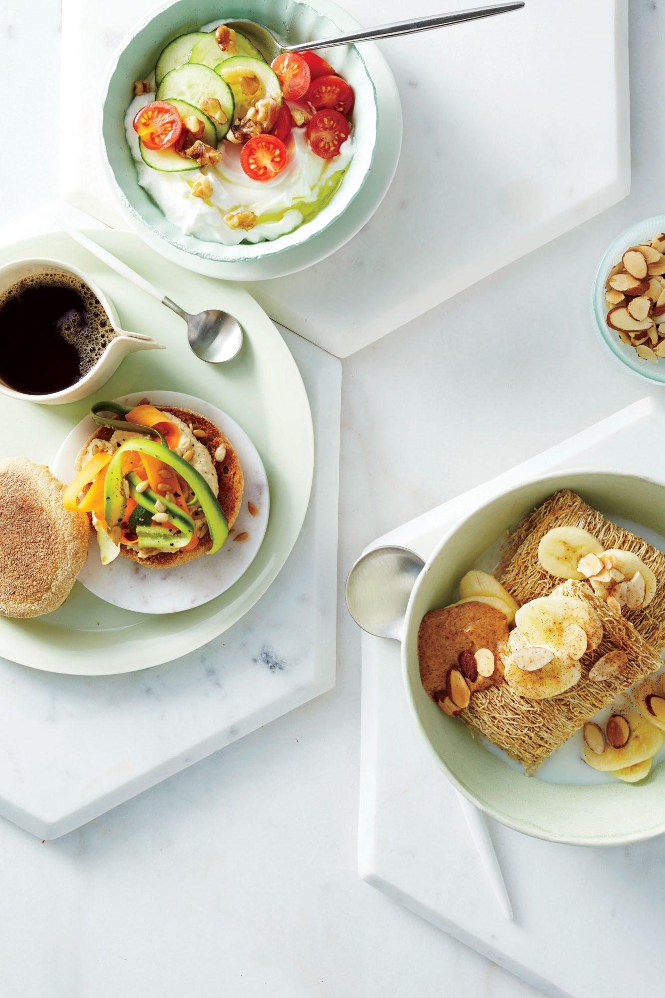 Hummus-Zucchini English Muffin