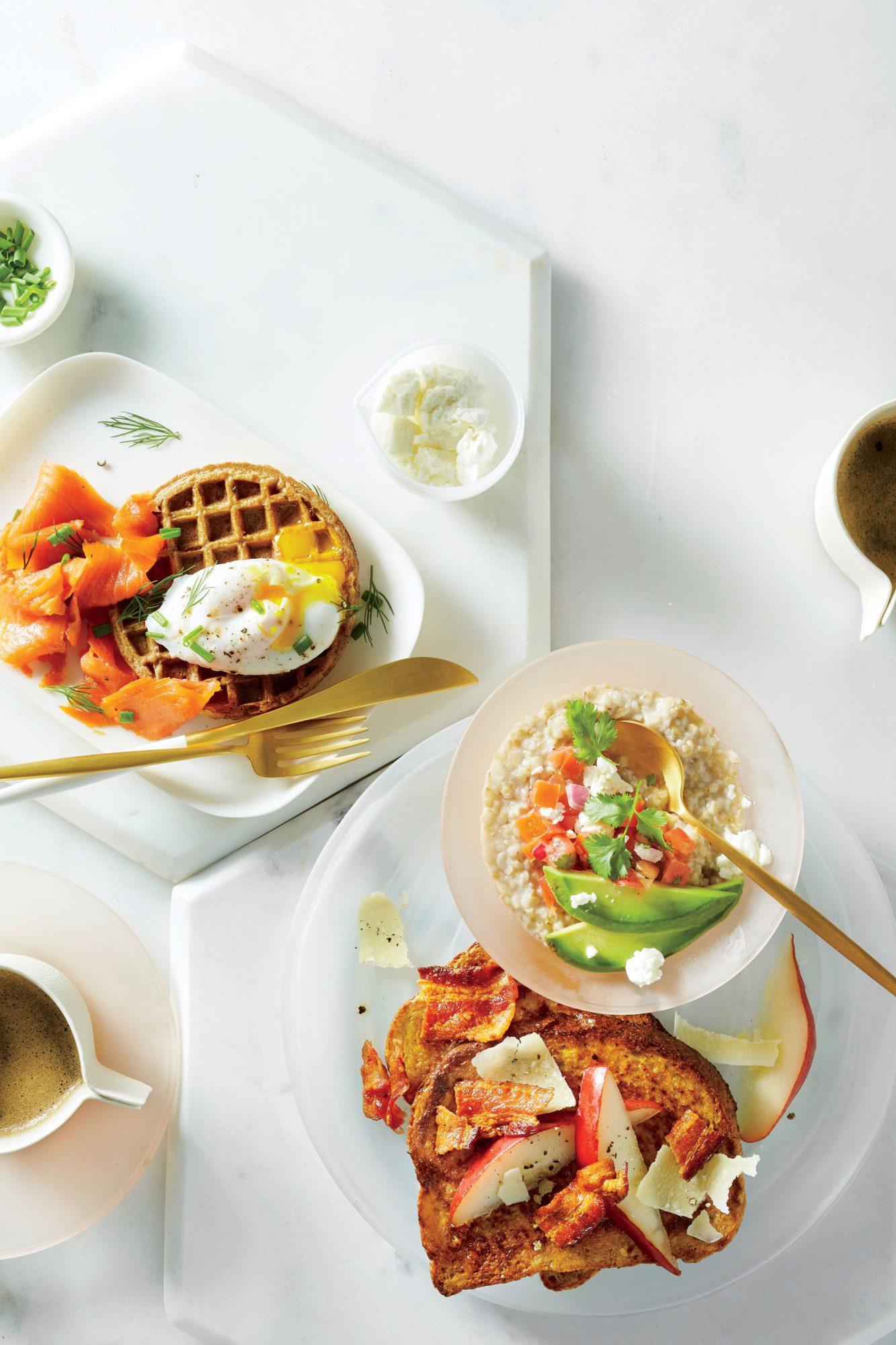 Egg and Nova Whole-Grain Waffle