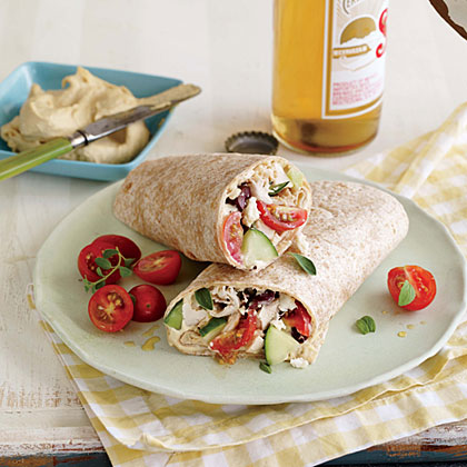 Greek-Style Chicken Wraps