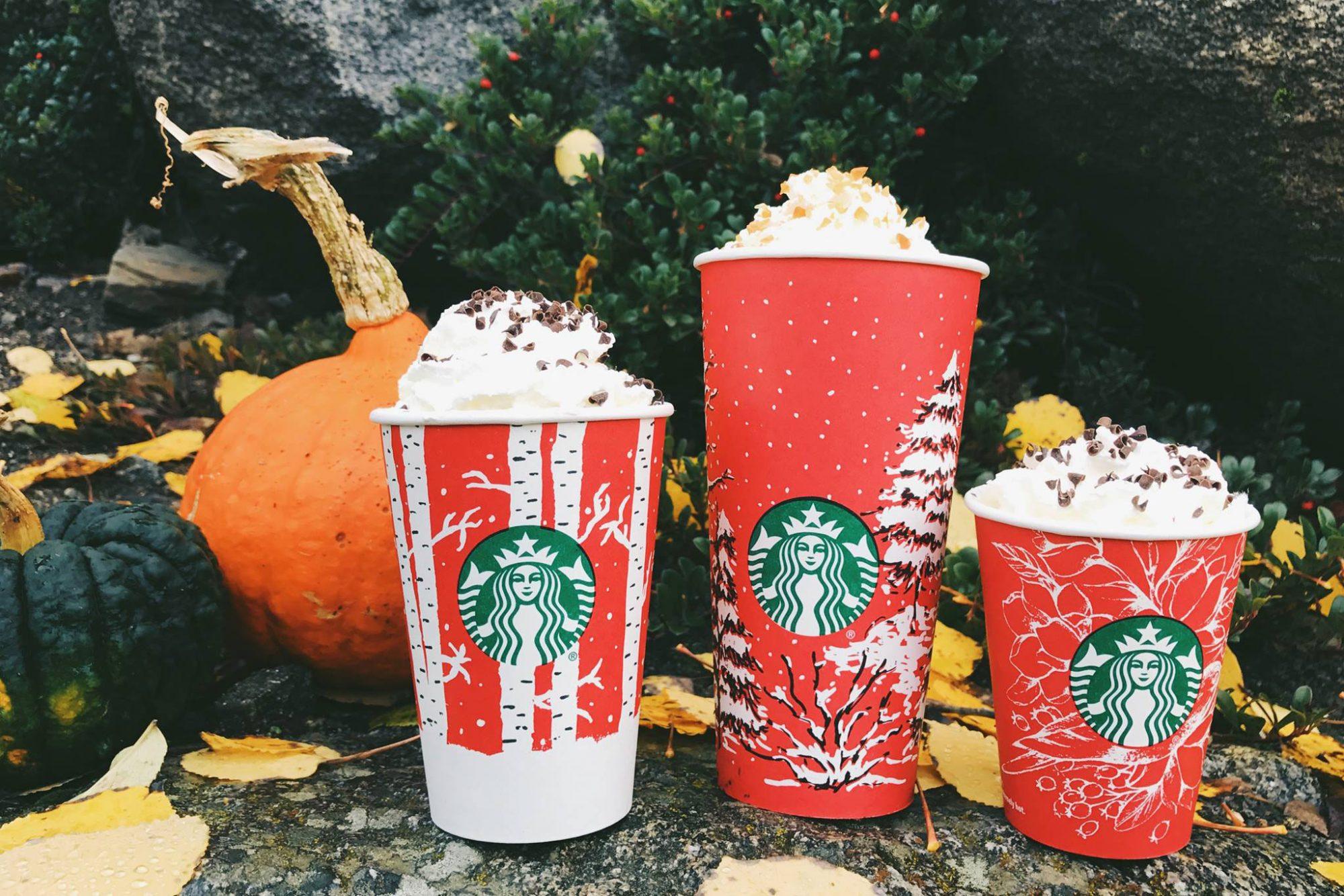 Starbucks cups 2016