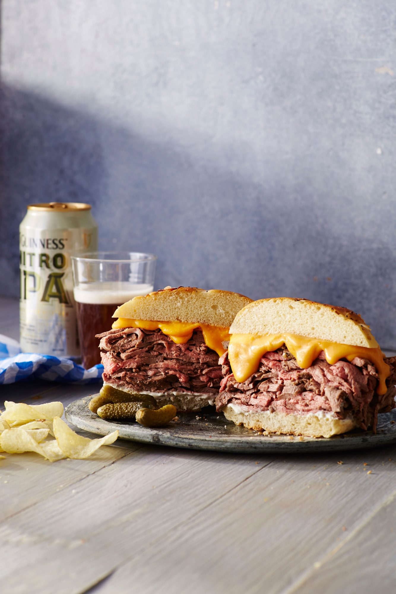 Roast Beef and Cheddar Sandwich with Horseradish Sauce image